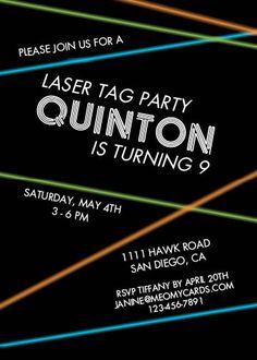 Similar Ideas Download Now FREE Printable Laser Tag Invitation Templates Birthday