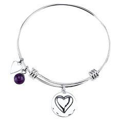 "Stainless Steel Expandable Bracelet Grandma - Silver (8"")"