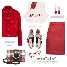 """Outfit #76: Miu Miu x Loewe"" by mariluz-garcia ❤ liked on Polyvore featuring Miu Miu, Loewe and Victoria Beckham"