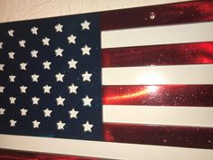 Bottle Cap Metal Sign Patriotic Decor Embossed Stars Stripes USA American Flag