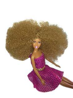 Black Bi Racial Doll Light blonde/Brown by NaturallyMeDolls