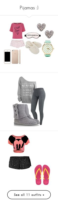 """""""Pijamas :)"""" by mary-verde ❤ liked on Polyvore featuring Juicy Couture, Hamam, Wildfox, 2b bebe, UGG Australia, Havaianas, Jack Wills, Victoria's Secret, Outfitters Nation and Myla"""