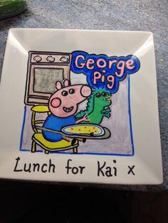 Hand drawn plate for Kai