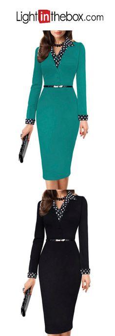 Women's Going out Casual Sheath Knee-length Dress