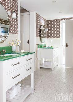 Interior designer Linda Banks in New England Home.