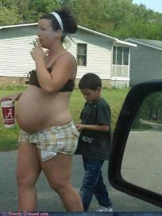 Image result for stupid white trash