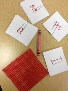 Red Word Method for learning sight words. Very interesting!