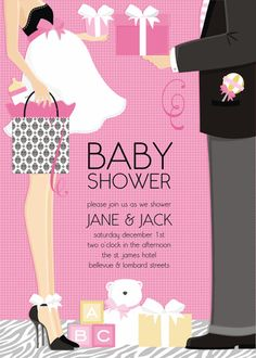 girl COUPLE shower invite