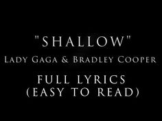 With Lyrics Music Quotes, Music Songs, Lady Gaga Lyrics, Best Old Songs, Letting People Go, Video Library, Bing Video, A Star Is Born, Music Covers