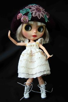 Blythe Purple Felted Cloche Hat by bravuradolly on Etsy, £13.00