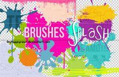 Brushes Splash BHR by iBeHappyRawr.deviantart.com on @DeviantArt