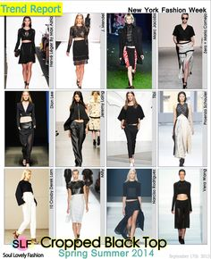 Cropped Black Top is a #Fashion Trend for Spring Summer 2014  #Spring2014 #trends