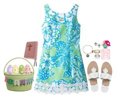 """Easter {contest} day 3: Easter"" by peypeythehappygirl ❤ liked on Polyvore featuring Lilly Pulitzer, Jack Rogers, Marc Jacobs, Pier 1 Imports, Avery, Alex and Ani, Kendra Scott and preppingforspring"
