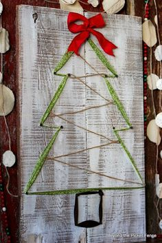 12 Days of Christmas, Day 4, Ribbon Tree