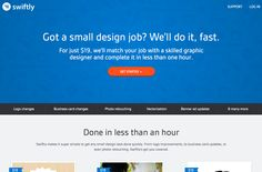 Quick and cheap design outsourcing for small design projects.