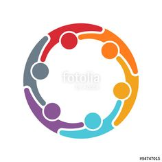 """Download the royalty-free vector """"People Family logo"""" designed by Fotolia365 at the lowest price on Fotolia.com. Browse our cheap image bank online to find the perfect stock vector for your marketing projects!"""