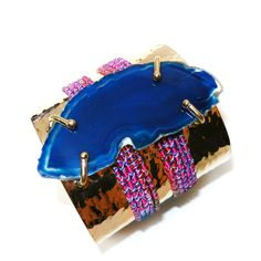 MAY: Pair your white-hot look with boldly-hued accessories, like this Mercedes Salazar cuff. 212 872 8901