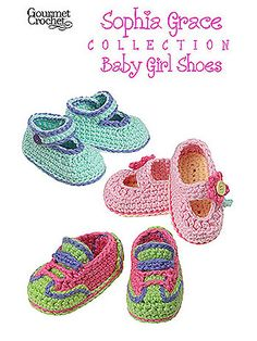 The Sophia Grace Baby Girl Shoes are soft and comfortable for little feet. These adorable baby shoes are sure to become favorite projects for shower gifts. The Sophia Grace Baby Girl Shoes pattern includes three shoe styles Baby Girl Crochet, Crochet Baby Booties, Crochet Slippers, Love Crochet, Crochet For Kids, Cute Baby Shoes, Baby Girl Shoes, Girls Shoes, Handgemachtes Baby