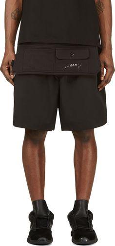 Y-3 - Black Cargo Apron Shorts