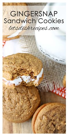 Gingersnap Sandwich Cookies Recipe with Coconut Orange Filling