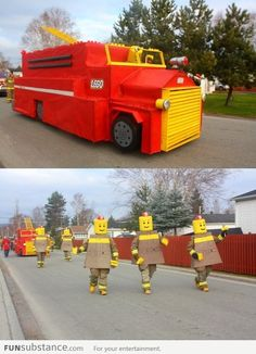Christmas parade of a local fire department