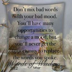 Becareful of your chose of words