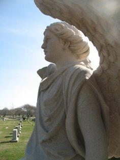 Profile of Monti Sculpture by Joseph Gervasini, Sr. River Bend Cemetery, Westerly, Rhode Island Westerly Rhode Island, Rose Petals, Cemetery, Joseph, Profile, River, Sculpture, Statue, History