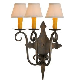 3 Light Angelique Wall Sconce