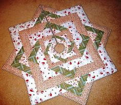 christmas tree skirt quilt | Free Quilt Pattern: Stars All Around Tree Skirt from EZ Quilting by gena