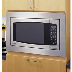 "JX2127SH | GE Built-In Microwave 27"" Trim Kit - Stainless Steel"