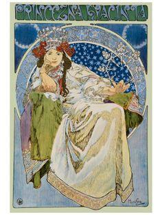 Princezna Hyacinta by Alphonse Mucha ~ Art Nouveau