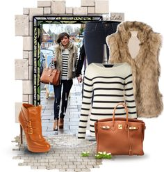 """""""Faux Fur Vest1"""" by jessicaleila ❤ liked on Polyvore"""
