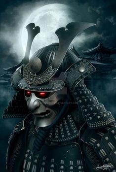 The dark shogun, Joan Francesc Oliveras Pallerols Japanese Mask Tattoo, Japanese Tattoo Designs, Japanese Sleeve Tattoos, Asia Tattoo, Japan Tattoo, Kabuto Samurai, Samurai Warrior Tattoo, The Last Samurai, Samurai Artwork