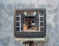 Incredible miniature rooms sculpted inside discarded television sets | Creative Boom