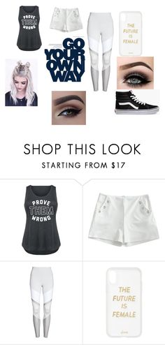 """workout in confidence"" by wweyanib on Polyvore featuring Alo, Sonix, ASAP, Vans and plus size clothing"