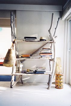ibiza.february 2013 (photo: quentin de briey) - awesome shelving from driftwood #inspiration #aehome