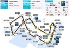 Un vistazo a la pista del GP de Singapur F1 2016, horarios y datos técnicos  #F1 #SingaporeGP