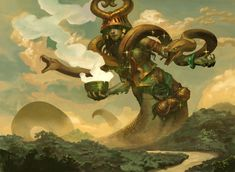 Magic the Gathering, Gods of Theros: Pharika, God of Affliction, by Peter Mohrbacher