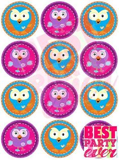 Hootabelle Owl Giggle and Hoot Owl 2D Push Mold Food Safe Silicone A165 Cupcake