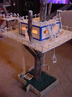 Popsicle Stick Tree House 1 & 2 (Lrg.Pics) - MISCELLANEOUS TOPICS