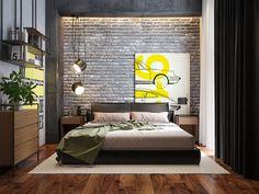 Bedroom visualization on Behance