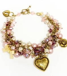 #DIY Beaded Charm Bracelet - Great Crafted Gift for Mom from Joann.com