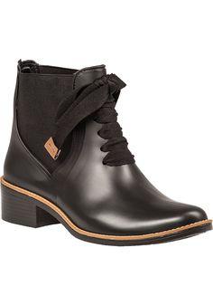 Bernardo - Lacey Rain Boot Black Rubber