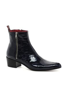Jeffery West 2 Zip Cuban Heel Boots