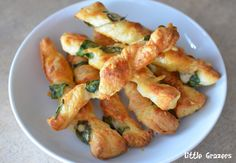 Parmesan and Spinach Cheese Twists - Quick and Easy, 4 ingredients