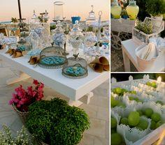 Artistic Shades of Blue Wedding in Paros @ Poseidon Hotel