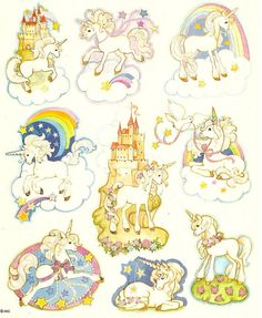 UNICORN STICKERS I HAD THESE THEY WERE MY FAV