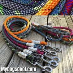 Climbing Rope Dog Leashes hand built in the USA for medium to extra large dogs. https://MyDogsCoil.com #dogleash #ropeleash #madeinusa by mydogscool