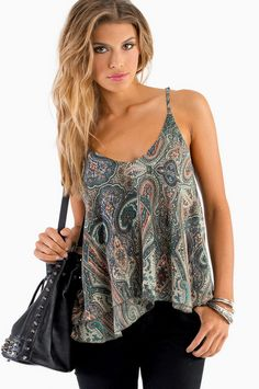 Captivate Me Top #paisley