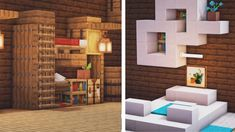 My take on some bed designs! Minecraft Mods, Minecraft Villa, Modern Minecraft Houses, Minecraft Mansion, Minecraft Plans, Amazing Minecraft, Minecraft House Designs, Minecraft Tutorial, Minecraft Architecture